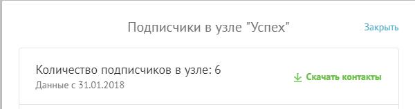 информация о контактах.